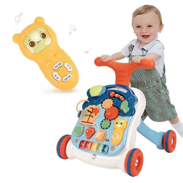 兒童玩具 卡卡貝兒音樂學步車學習桌 -JoyBaby