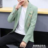 男士休閒西服2018韓版修身單上衣青年帥氣小西裝男春季薄款外套潮