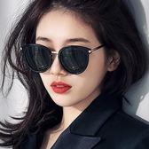 太陽眼鏡 墨鏡防紫外線偏光太陽鏡圓臉復古原宿風眼鏡 維科特3C