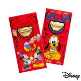 Disney迪士尼系列金飾-黃金元寶紅包袋-兩小無猜+高飛來富款