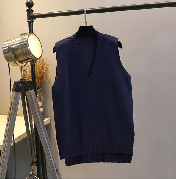 背心 針織毛線馬甲背心女外套胖mm200斤中長款寬鬆外搭毛衣馬夾QB81