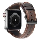 適用iwatch表帶真皮applewatch1/2/3/4代蘋果手表表帶替換帶女