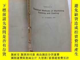 二手書博民逛書店英文書罕見electrical methods of nachining forming and coating