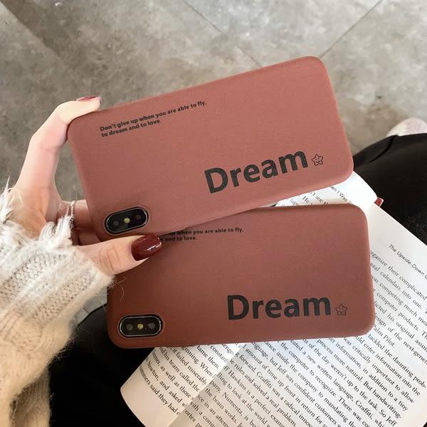 【SZ34】棕色簡約英文字母硬殼 iphone XS MAX手機殼 iphone XR XS手機殼 iphone 8plus手機殼 i6s plus手機iphone X