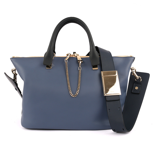 【CHLOE】Baylee Small two-tone tote 小牛皮 (街頭藍) 3S0169 882 B5U(OUTLET)