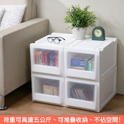 特惠-《真心良品x樹德》白色積木系統式單抽隙縫收納櫃14.5L (6入)