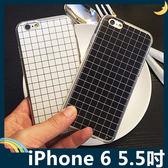iPhone 6/6s Plus 5.5吋 黑白格子清水套 軟殼 復古格紋 時尚潮流 全包款 矽膠套 保護套 手機套 手機殼