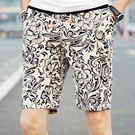 多款印染花色沙灘褲 黑白 M-4XL碼【CM65025-7】