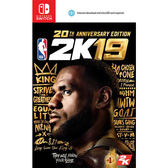 [哈GAME族]免運費●含首批數位+實體特典●NS NBA 2K19 20週年紀念版 中英文合版 9/7發售預定