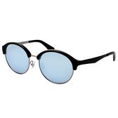 原廠公司貨-【Ray Ban 雷朋】RB3564D-9027/30 雷朋復古圓框太陽眼鏡(銀X黑框/水銀鏡面)