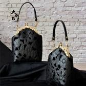 布藝diy 小黑裙絲絨刺繡香水瓶口金包材料包手工免裁免燙 - 歐美韓熱銷