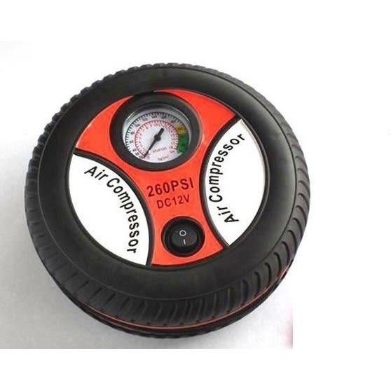 輪胎造型12V汽車電動打氣機 打氣筒 新款19# 加大氣缸 每分鐘35L 自行車機車汽車用打氣機【4G手機】