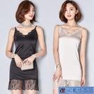 中大尺碼背心女 2021夏裝新款吊帶韓版修身中長款無袖蕾絲背心裙內搭打底裙 3C數位百貨