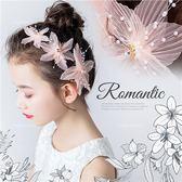 造型髮飾~甜美風粉色花朵公主壓夾~3個一組-公主搭禮服推薦(P12076)★水娃娃時尚童裝★