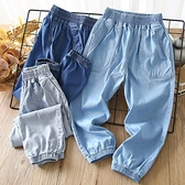 男童牛仔褲 男童天絲牛仔防蚊褲春夏季薄款中大童2021年夏裝新款長褲兒童褲子 歐歐