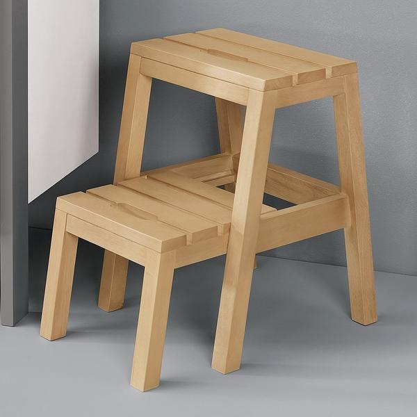 【森可家居】查理多功能樓梯椅(本色) 8CM1037-14 椅矮凳 穿鞋椅 實木