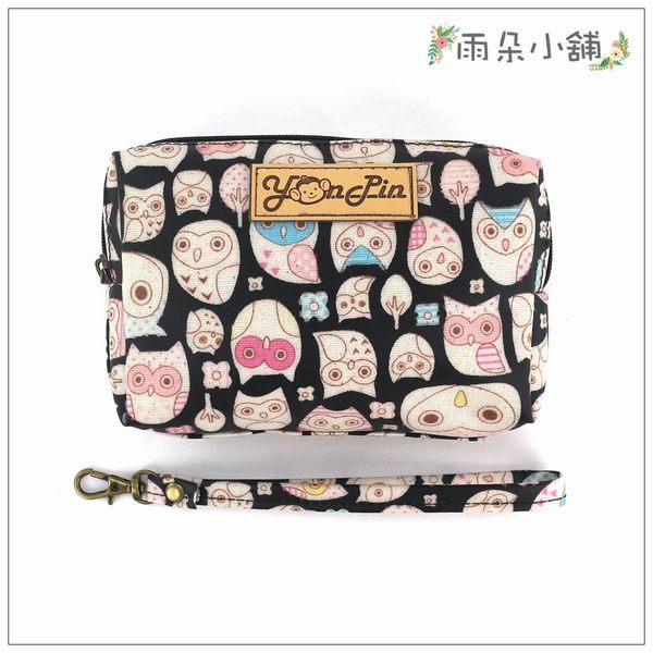 零錢包 包包 防水包 雨朵小舖M101-572 四方大零錢包-黑眼罩貓頭鷹14252 funbaobao
