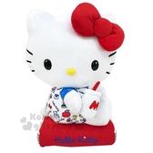 〔小禮堂〕Hello Kitty 絨毛玩偶娃娃《L.藍紅.牛奶瓶》擺飾.玩具.抱枕 4901610-44817