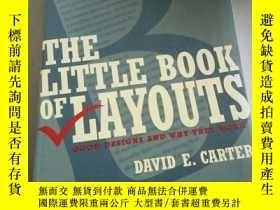 二手書博民逛書店THE罕見LITTLE BOOK OF LAYOUTS(英文)Y