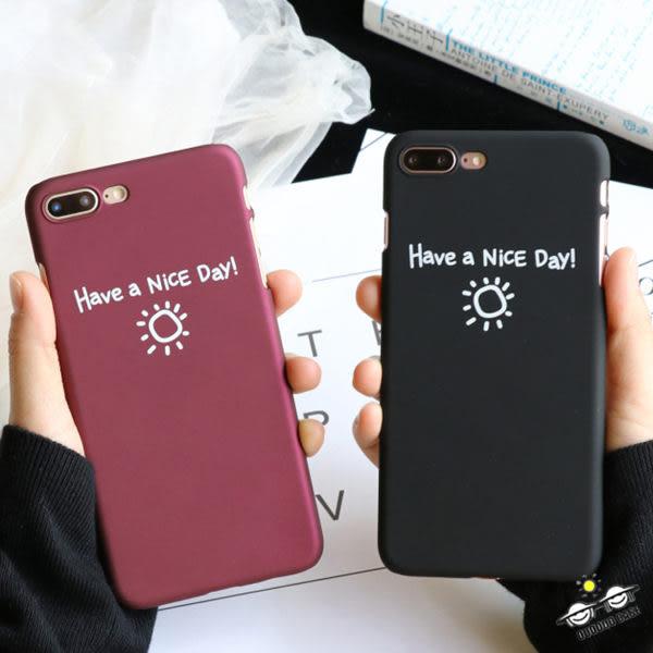 【SZ14】iPhone7/8 plus手機殼 NICE DAY小太陽 磨砂硬殼 iPhone 6s/6 plus/7手機殼iPhone SE/5s