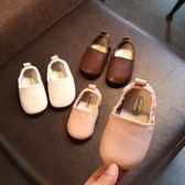 618好康鉅惠女寶寶學步鞋軟底兒童一腳蹬豆豆鞋春秋