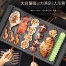 電烤盤烤肉鍋少煙家用不粘燒烤爐家用烤肉機電烤爐烤魚爐無 220v  麻吉鋪