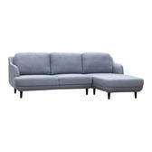 【歐雅系統家具】約格分割式布沙發-L型-淺灰藍 / 沙發 / 布沙發 /三人沙發 / 12層內材