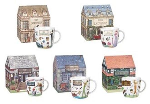 英國Queens - 休閒時光系列York精瓷馬克杯禮盒(共五款可選購)