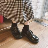 皮鞋 ulzzang學院風街拍厚底亮皮chic小皮鞋鬆糕復古單鞋女 七夕禮物中秋節禮物