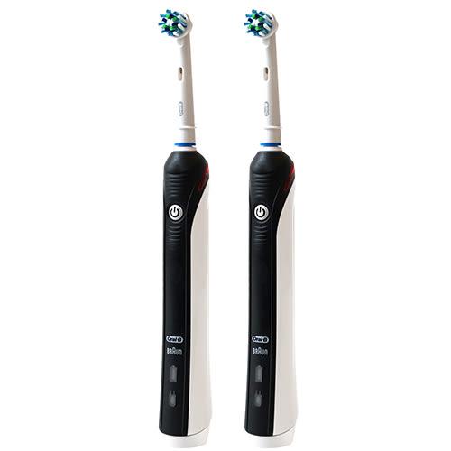 (福利品)德國百靈Oral-B-全新升級3D電動牙刷 PRO1000B(2入/組