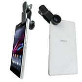 TS8三合一萬用夾式手機鏡頭組(魚眼,廣角,微距)