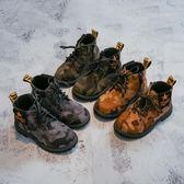軍靴 兒童軍靴子男童馬丁靴寶寶單靴迷彩鞋女童短靴潮【小天使】