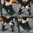 鞋子男士 精神小伙鞋潮豆豆鞋一腳蹬韓版棉鞋板鞋防水 艾莎嚴選