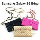仕女名媛格菱紋皮套/斜背包 Samsung G9250 Galaxy S6 Edge