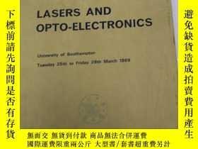 二手書博民逛書店lasers罕見and opto-electronics (S3