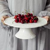婚禮點心水果盤甜品台高腳蛋糕盤白陶瓷party托盤歐式架婚慶道具 薔薇時尚