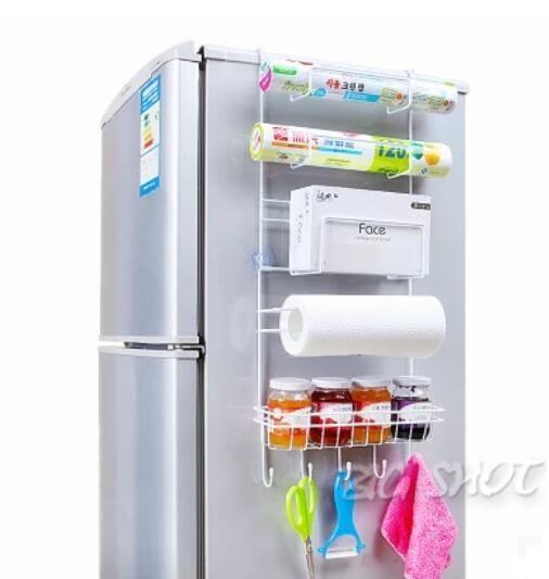 調味架-創意冰箱側掛架廚房置物架收納架壁掛多功能調料架儲物架廚房用品【大咖玩家】T1