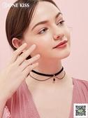 鎖骨練 頸鍊choker絲絨雙層ulzzang項鍊項圈女品牌鎖骨鍊短款頸帶網紅 霓裳細軟