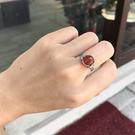 『晶鑽水晶』天然紅兔毛髮晶戒指 鍍銀 約10mm 橢圓型 招財 加強果斷力與自信心 海底輪 送禮自用