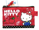 【卡漫城】 Hello Kitty 拉鍊 零錢包 蘋果 ㊣版 港版 網狀 凱蒂貓 三麗鷗 小物收納包 票卡包 鑰匙包