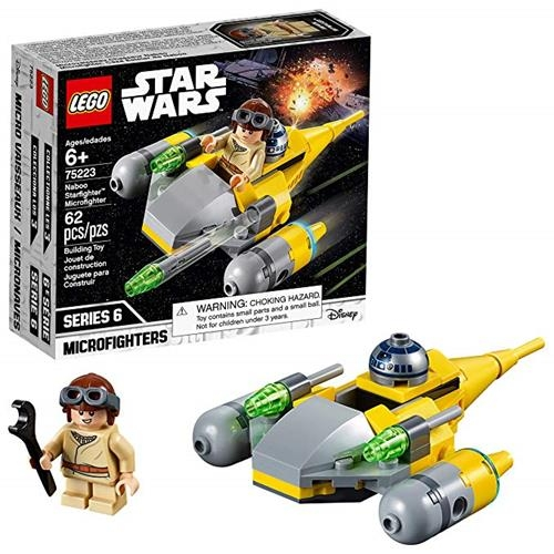 LEGO 樂高 Star Wars Naboo Starfighter Microfighter 75223 Building Kit (62 Piece)