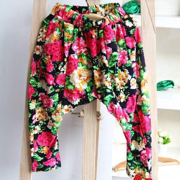 韓版《復古花朵款》哈倫褲 七分褲 跨褲