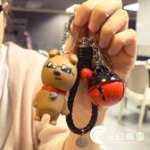 掛件-韓國可愛汽車鑰匙扣女背包書包掛件鈴鐺飾品女生日小禮物定制刻字-奇幻樂園