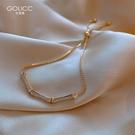 竹節手鏈女夏ins小眾設計冷淡風高級感手鐲手環簡約手飾女生閨蜜 錢夫人小舖