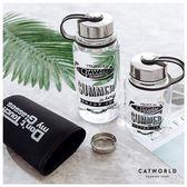 Catworld 戶外運動玻璃隨身瓶(附杯套)【18003316】‧700ml/1000ml