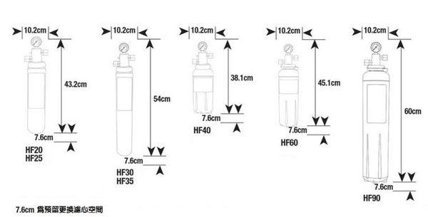 3M HF30-MS 高流量商用型除菌抑垢生飲淨水器 ★過濾孔徑0.5微米 ★14000 加侖 ★贈前置單道過濾