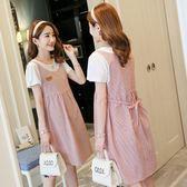 初心 假兩件 洋裝 【D3221】 假二件 背心裙 條紋 短袖 公主袖 洋裝