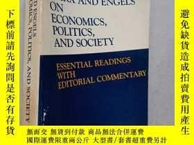 二手書博民逛書店MARX罕見AND ENGELS ON ECONOMICS , POLITICS , AND SOCIETY ES