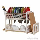 碗架碗櫃塑料瀝水裝碗筷收納餐具用品用具小百貨放刀架廚房置物架 igo