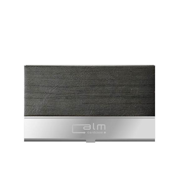 青青 Calm系列 時尚木紋名片盒-(黑色)